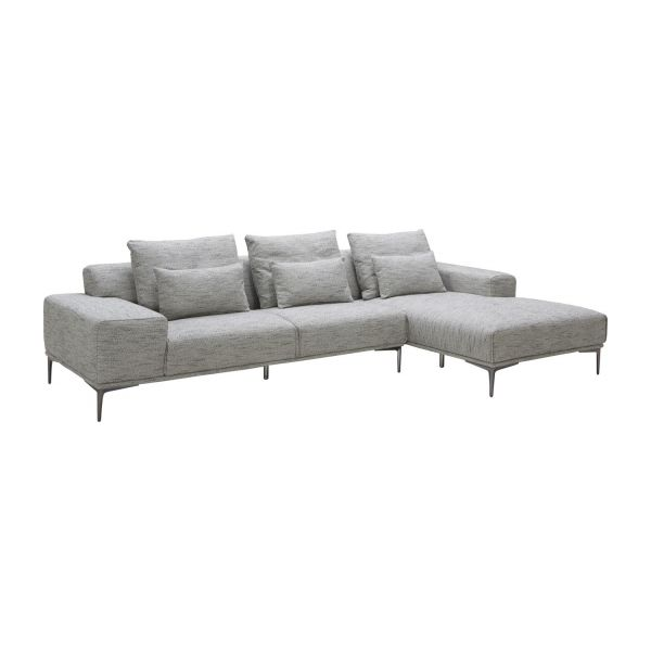sorrento 3 sitzer sofa aus stoff grau habitat. Black Bedroom Furniture Sets. Home Design Ideas