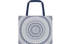 Beach bag made of cotton 55x45, blue