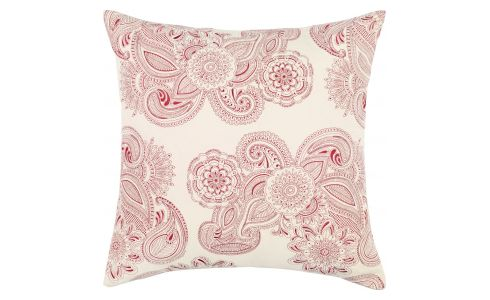 Cushion 60x60 broderie, red