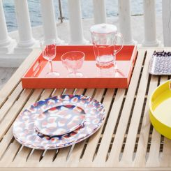Dessert plate made of melamine 21cm, with patterns