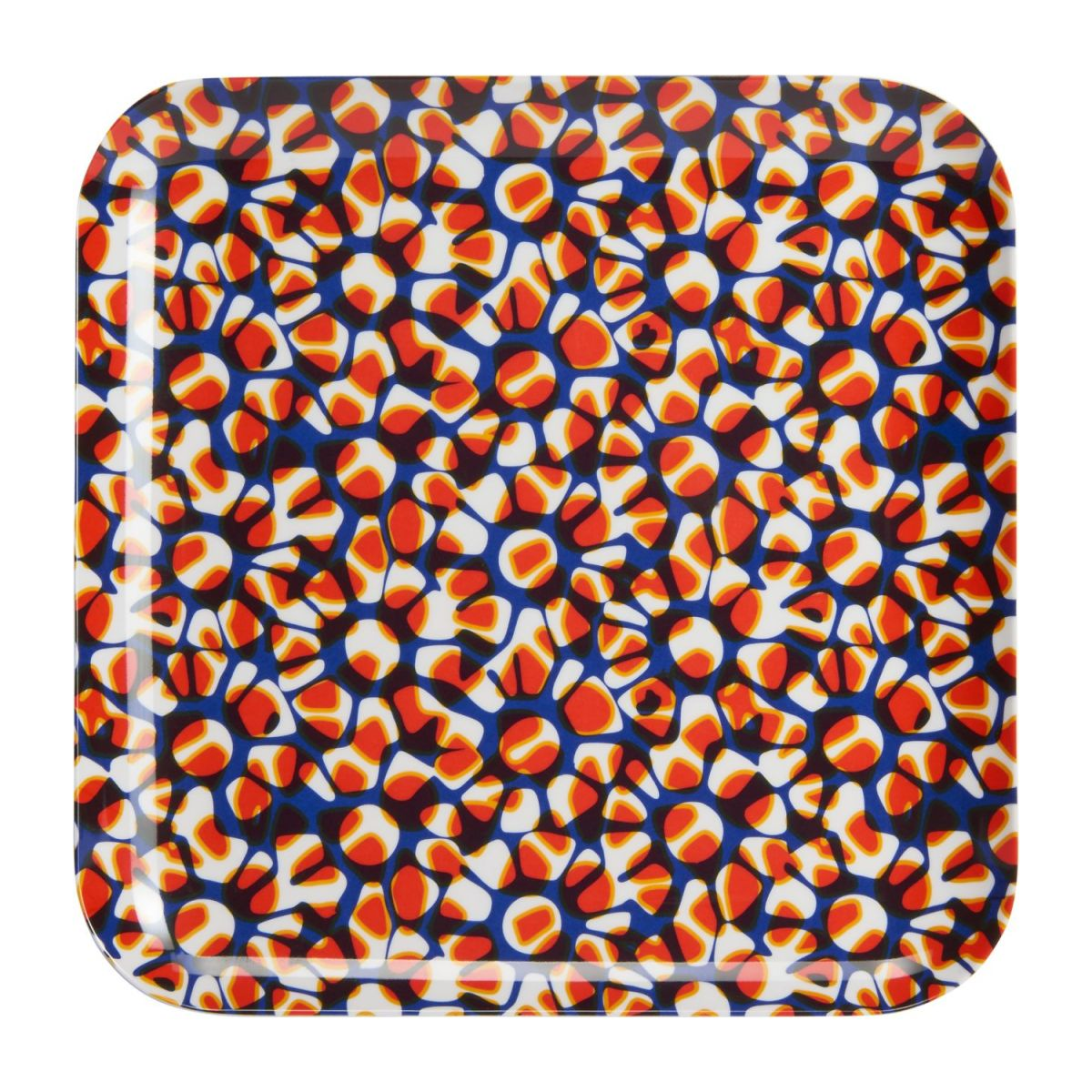 Square tray made of melamine 25x25cm, with patterns n°3