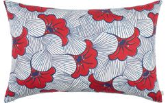 Cushion 40x60  with red flowers