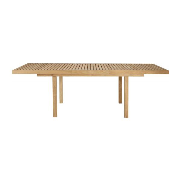 Teak extendible garden table n°5