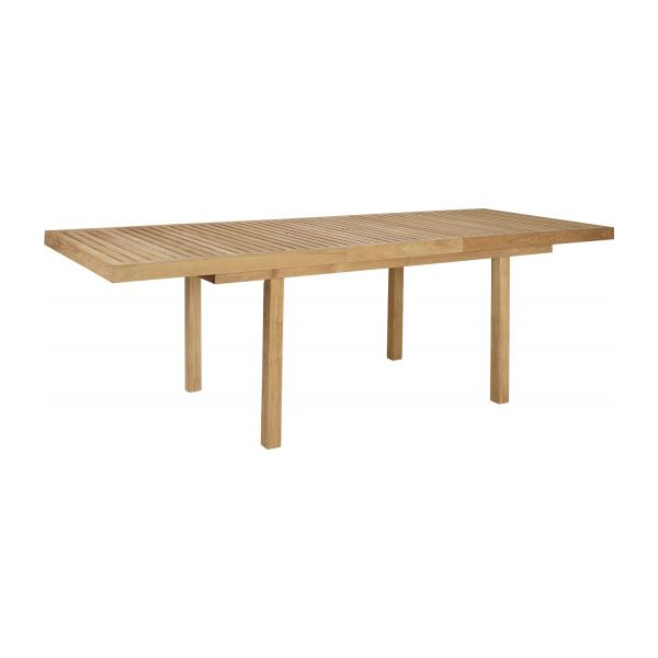 Teak extendible garden table n°2