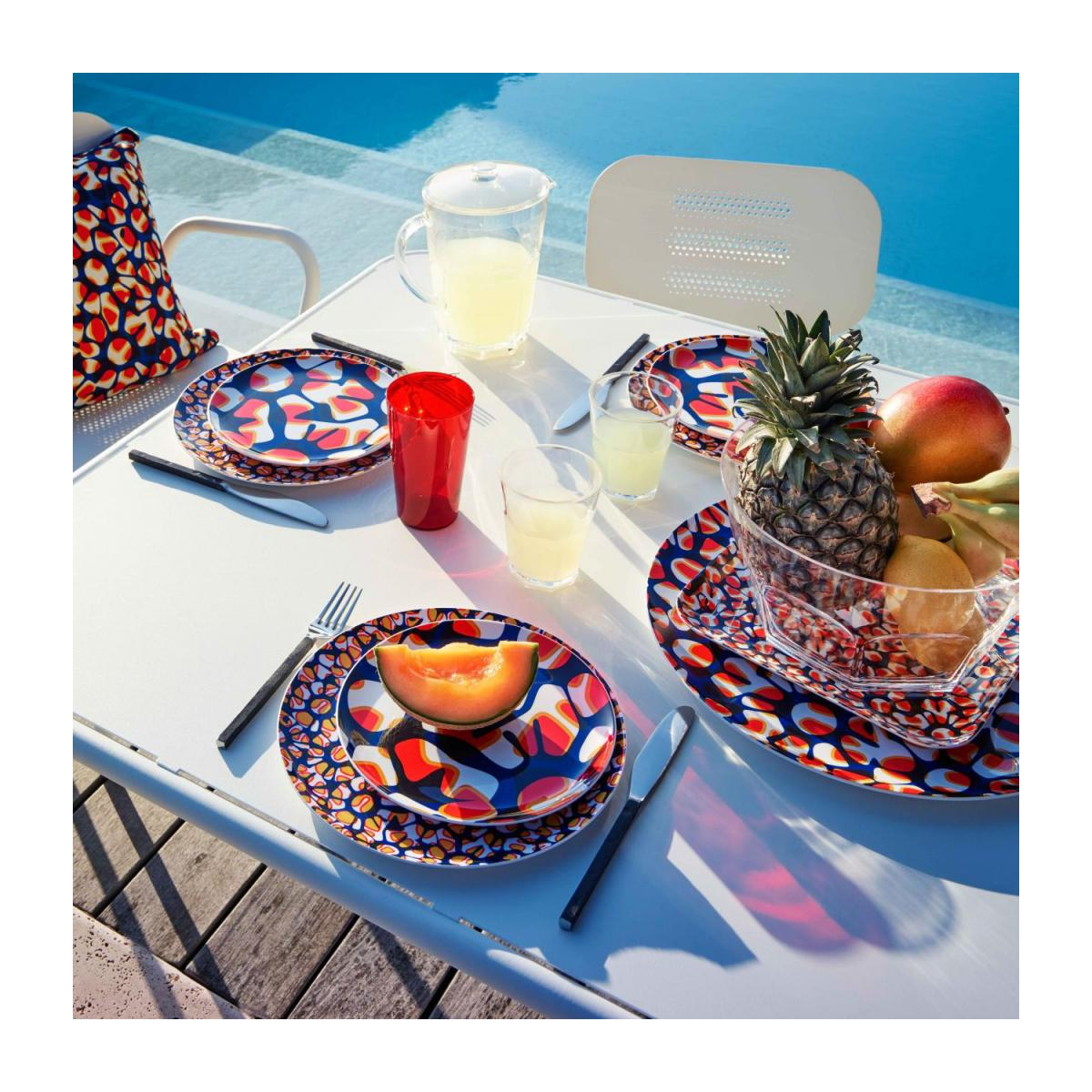 Square tray made of melamine 25x25cm, with patterns n°5