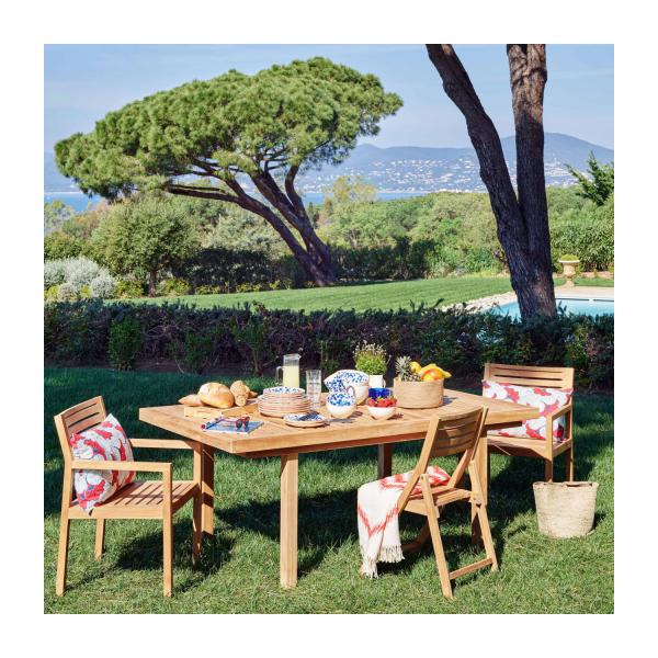 Teak extendible garden table n°1