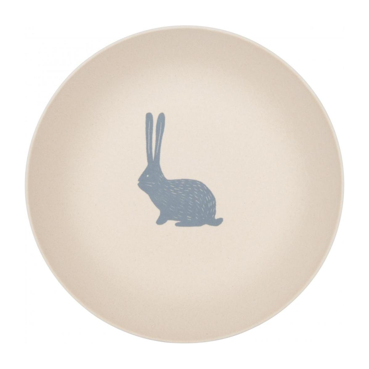 Soup plate with bunny patterns n°1
