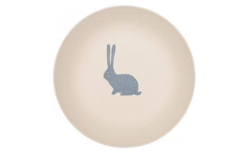 Soup plate with bunny patterns
