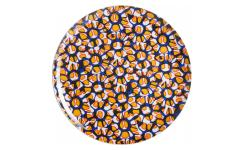 Flat plate made of melamine 26cm, with patterns