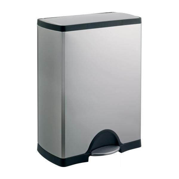 simplehuman poubelles argent m tal habitat. Black Bedroom Furniture Sets. Home Design Ideas