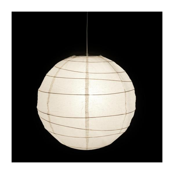 boule japonaise abat jour de suspension rond en papier blanc diam tre 60cm habitat. Black Bedroom Furniture Sets. Home Design Ideas
