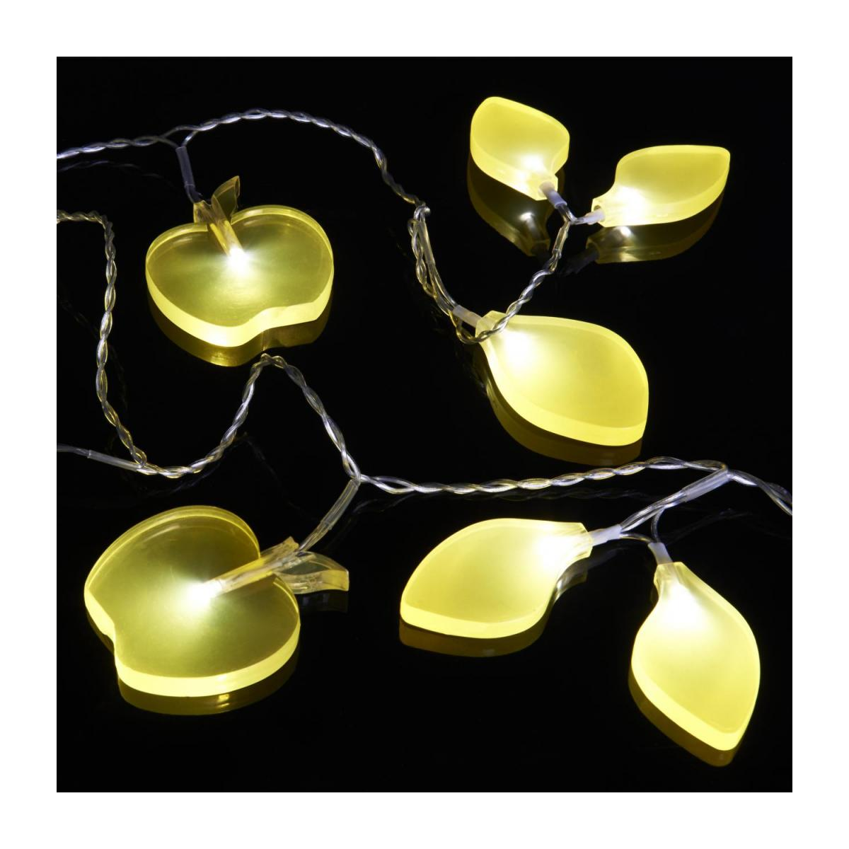 24-light fairy lights - frosted yellow apples n°2