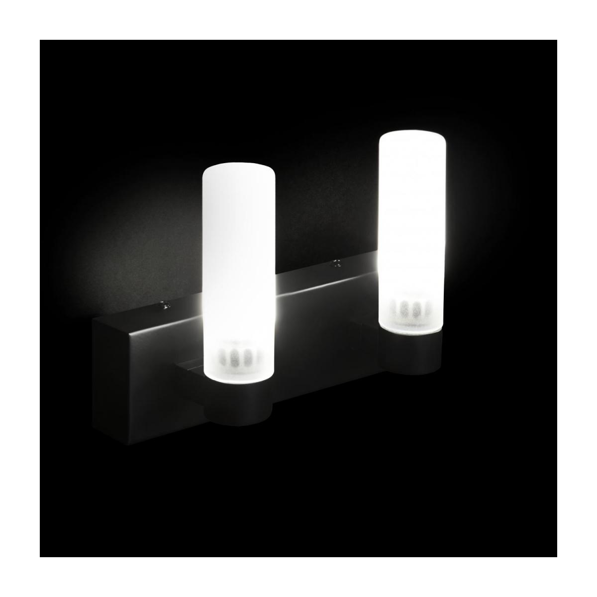 Applique LED norme IP44 matte - 2 lumières n°2