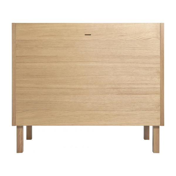 Chest of drawers for children made of oak, natural and grey-blue n°6