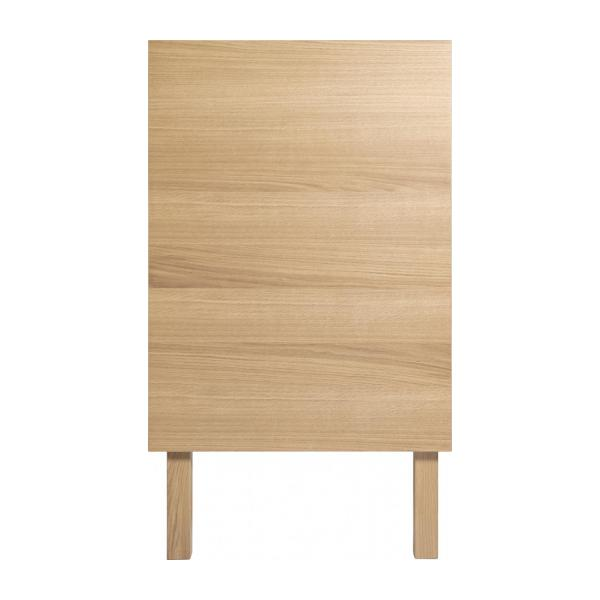 Chest of drawers for children made of oak, natural and grey-blue n°7