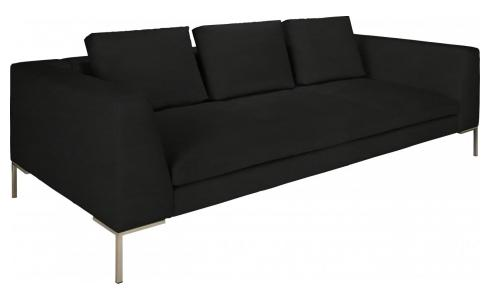 Montino - 3 seater sofa in Ancio fabric, nero - Habitat