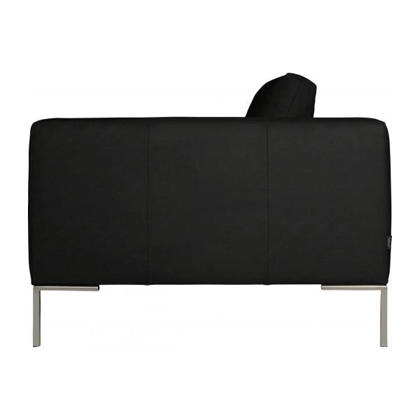 3 seater sofa in Eton veined leather, black n°5