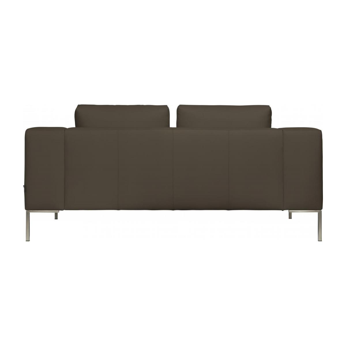 2 seater sofa in Eton veined leather, stone n°5