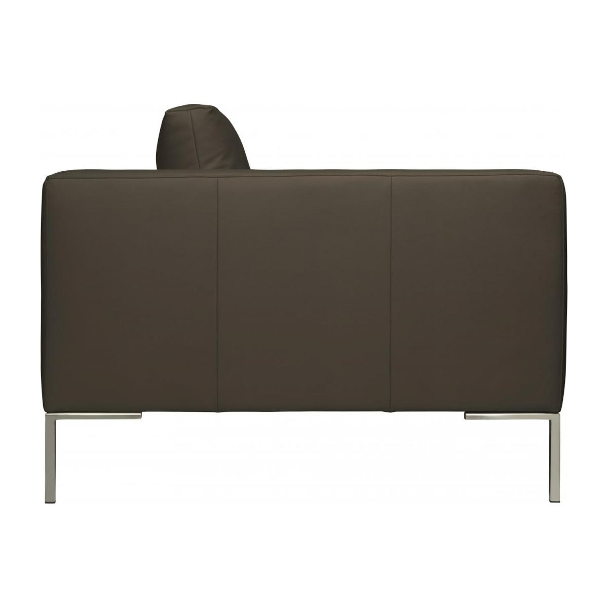 2 seater sofa in Eton veined leather, stone n°6