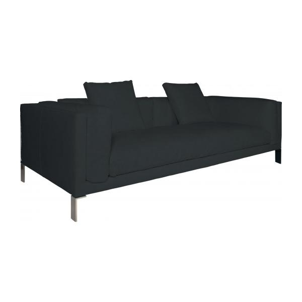 newman canap s canap 3 places bleu p trole cuir habitat. Black Bedroom Furniture Sets. Home Design Ideas