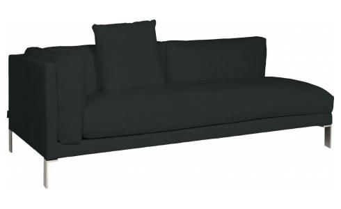 Leather left-arm 3 seater sofa
