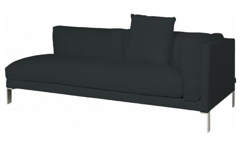 Leather riight-arm 3 seater sofa