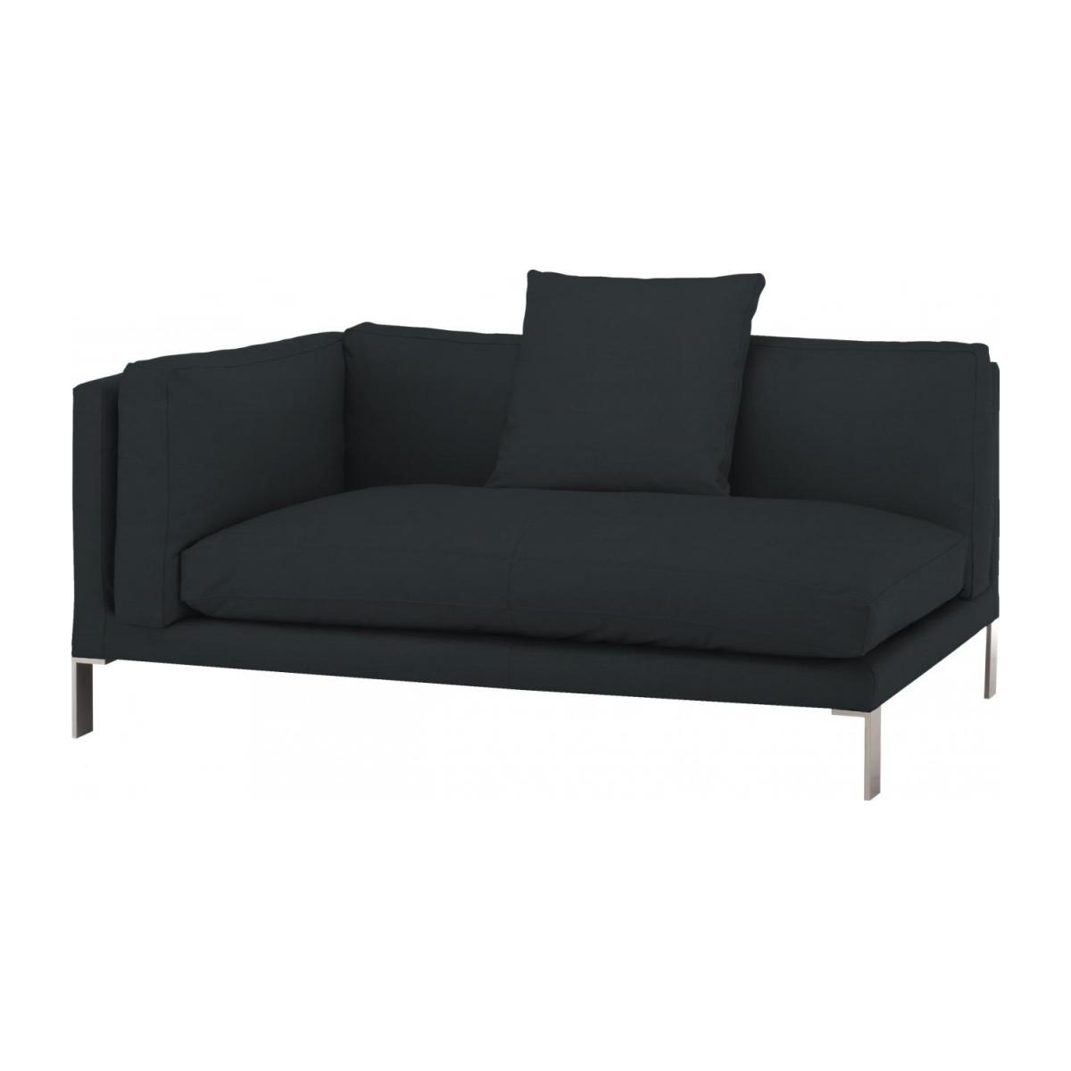 Leather left-arm 2 seater sofa n°1