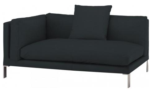 Leather left-arm 2 seater sofa