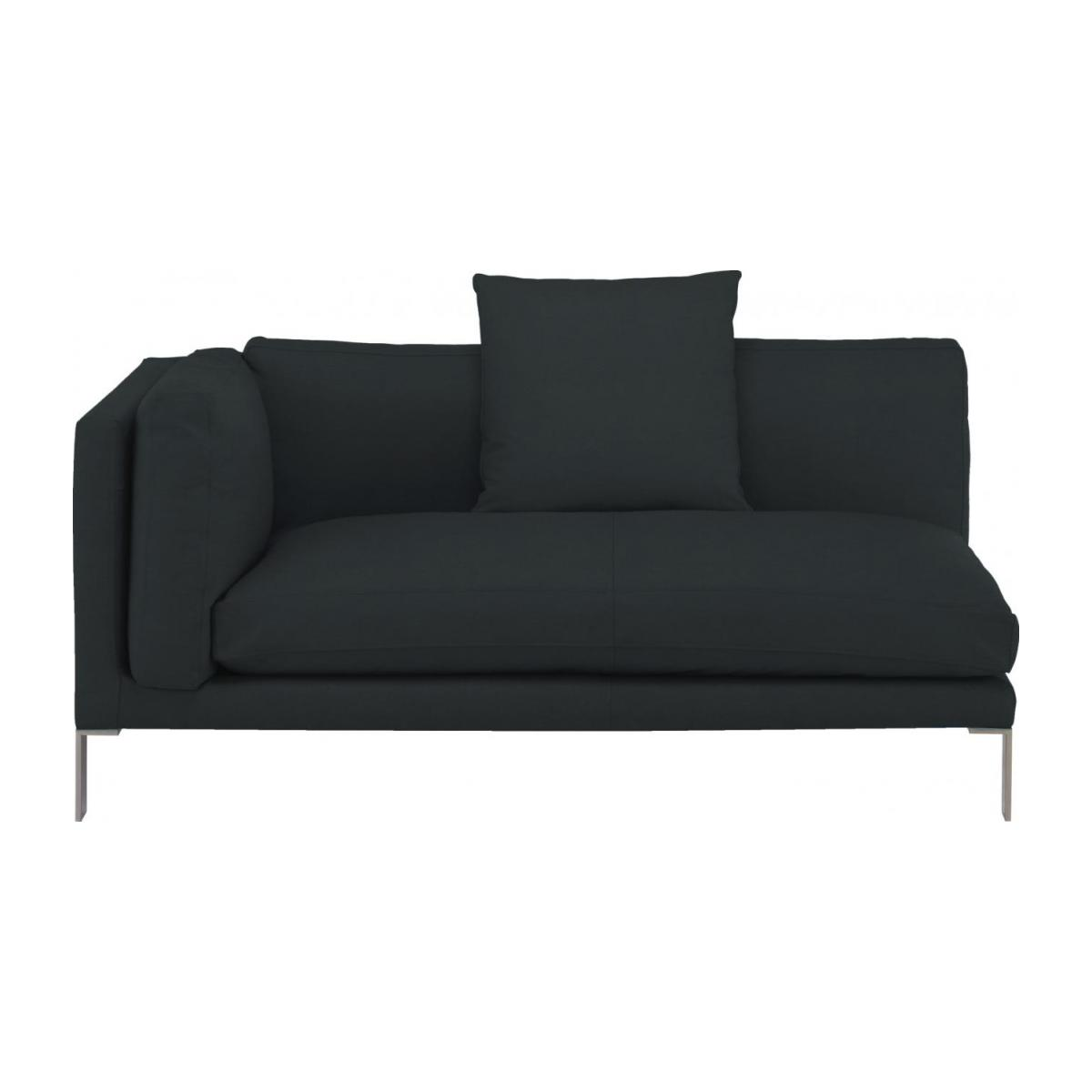 Leather left-arm 2 seater sofa n°3