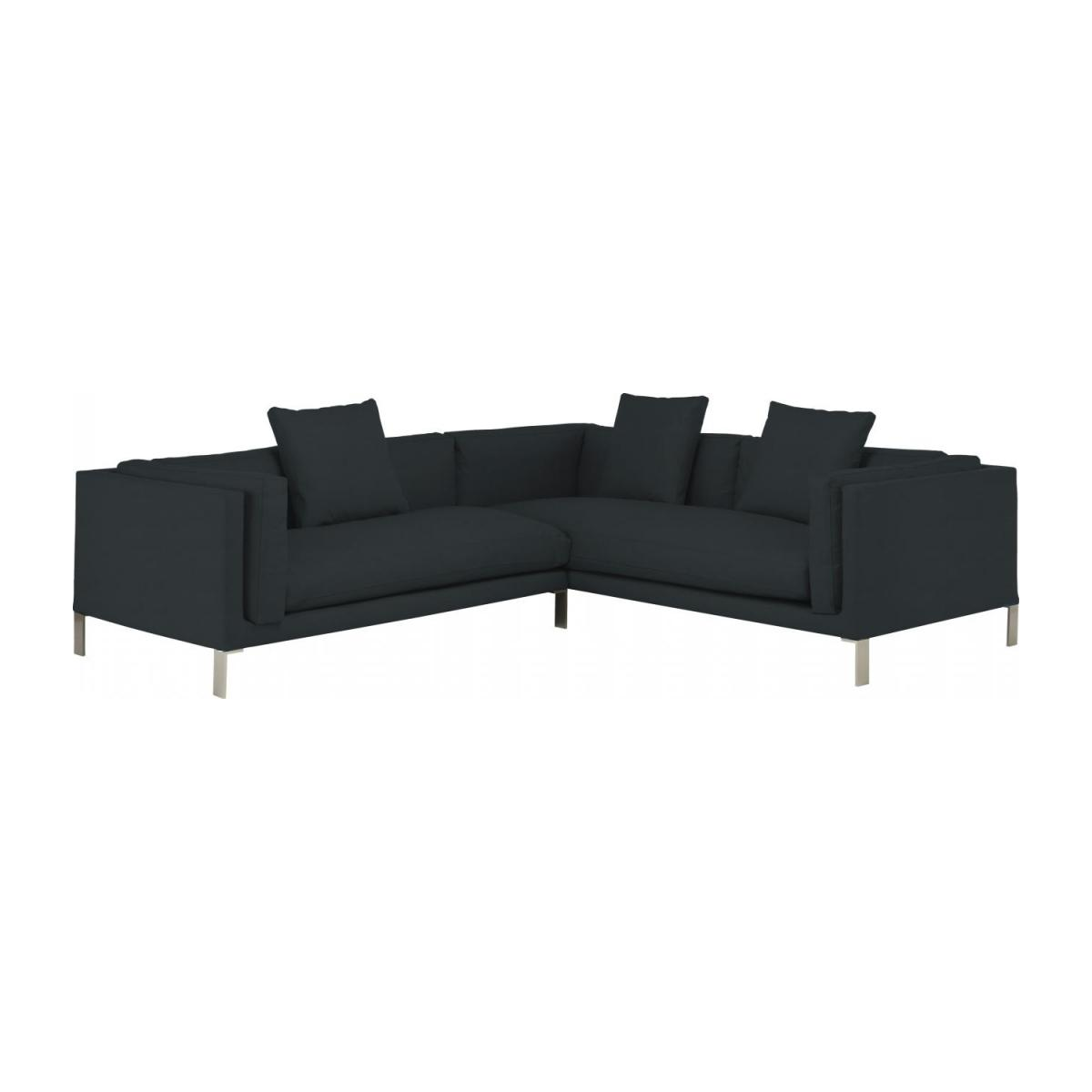 Leather left-arm 2 seater sofa n°5