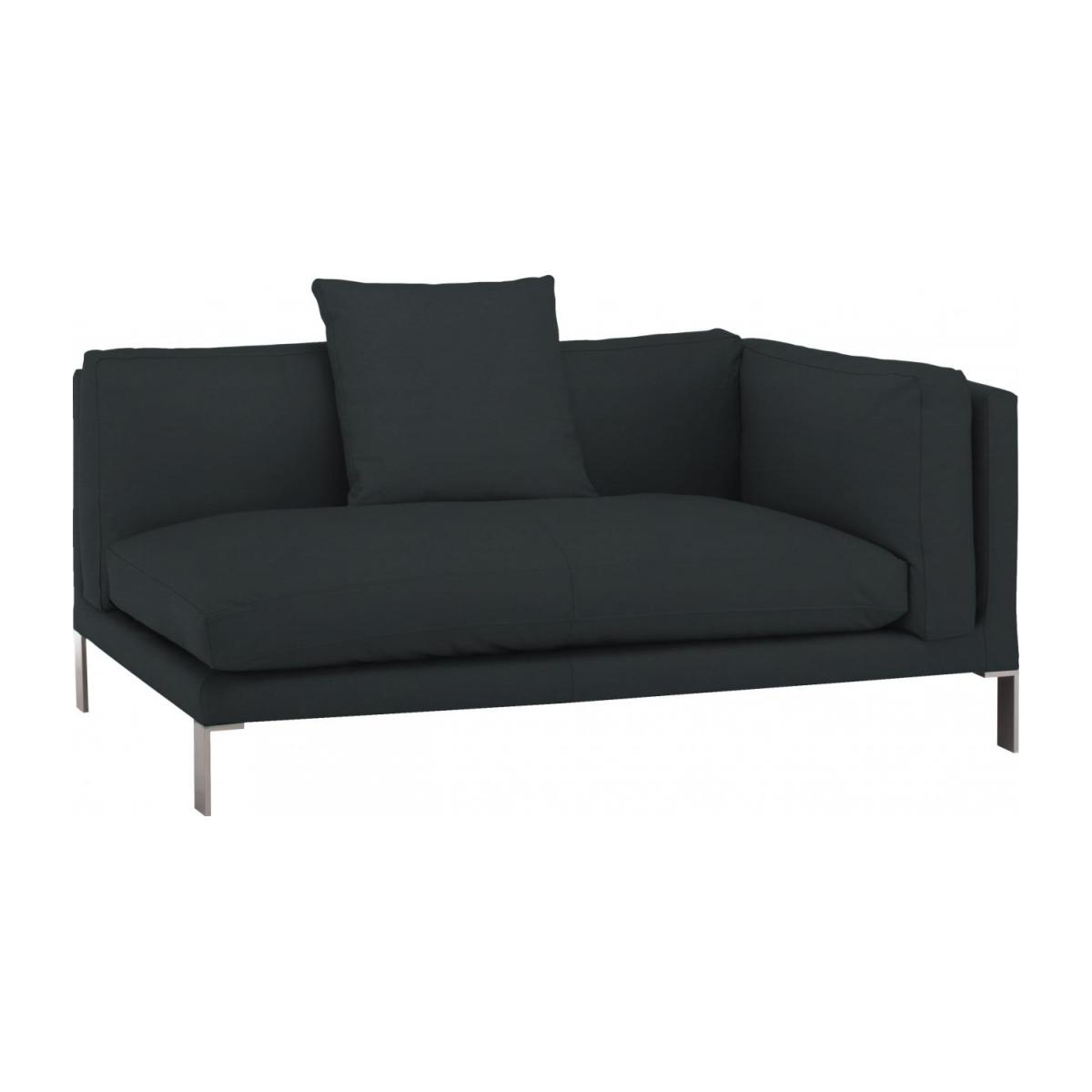 Leather riight-arm 2 seater sofa n°1