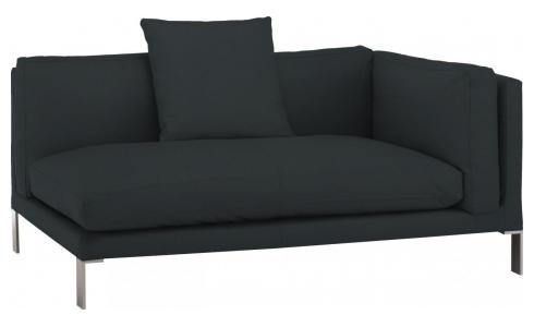 Leather riight-arm 2 seater sofa