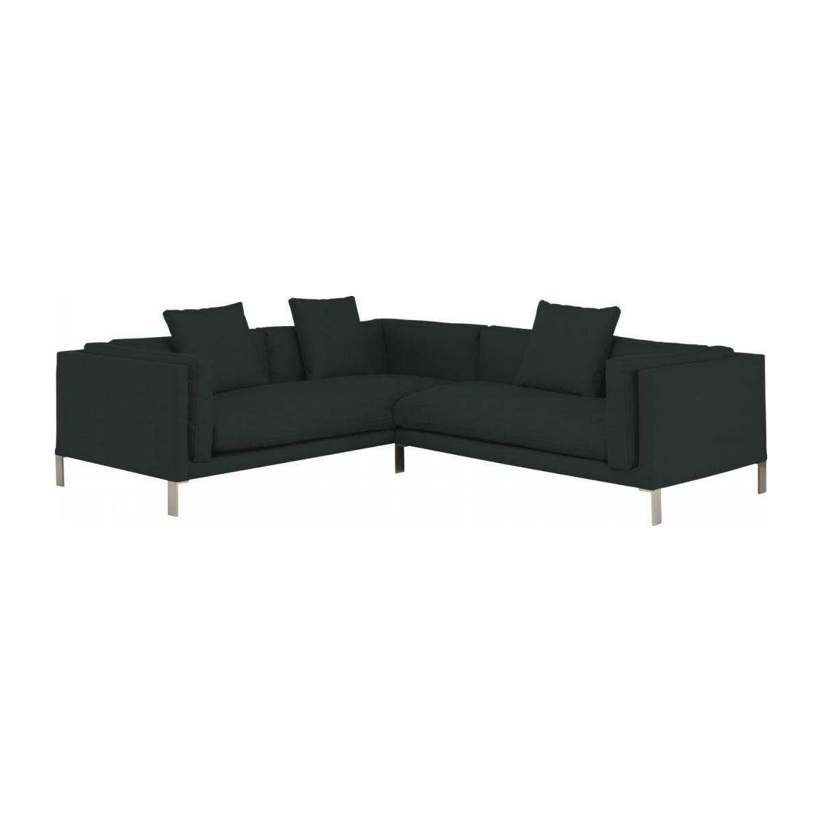 Leather riight-arm 2 seater sofa n°5
