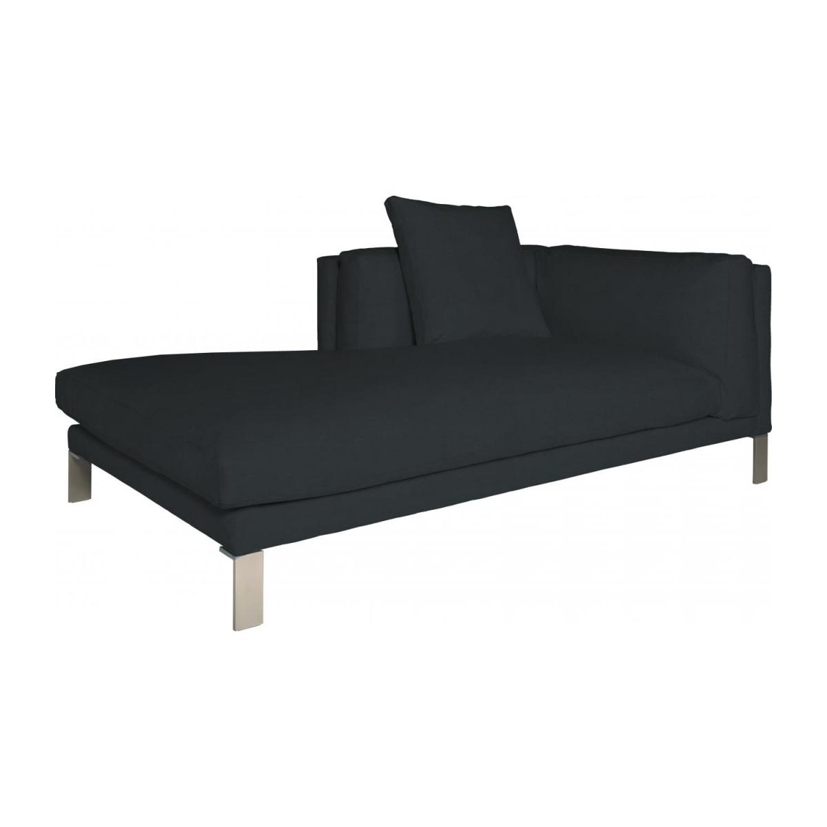 Leather left-arm chaise longue n°1