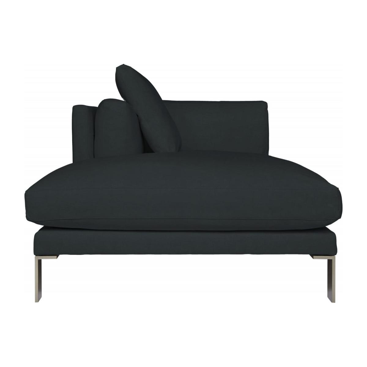 Leather left-arm chaise longue n°3