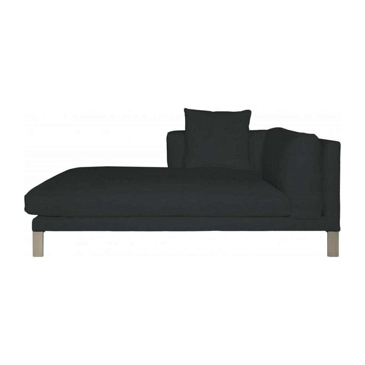 Leather left-arm chaise longue n°4