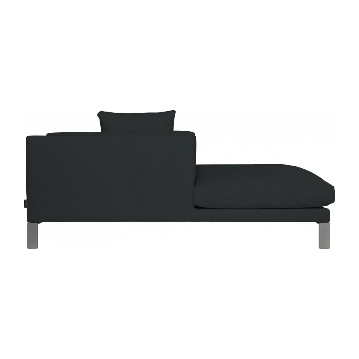 Leather left-arm chaise longue n°6