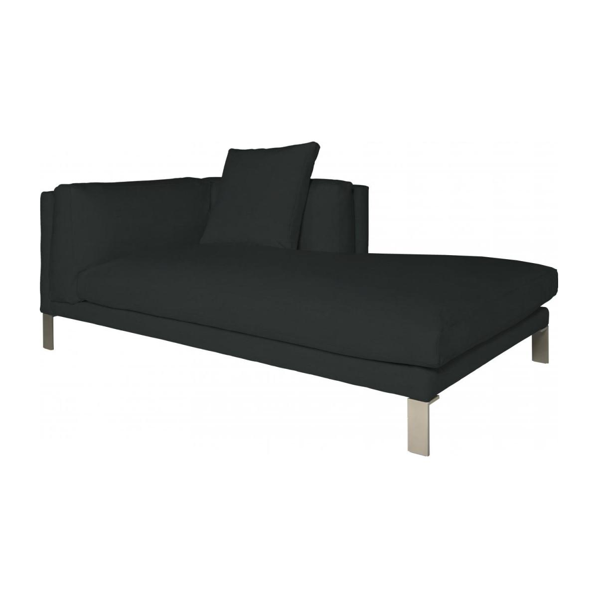 Leather right-arm chaise longue n°1
