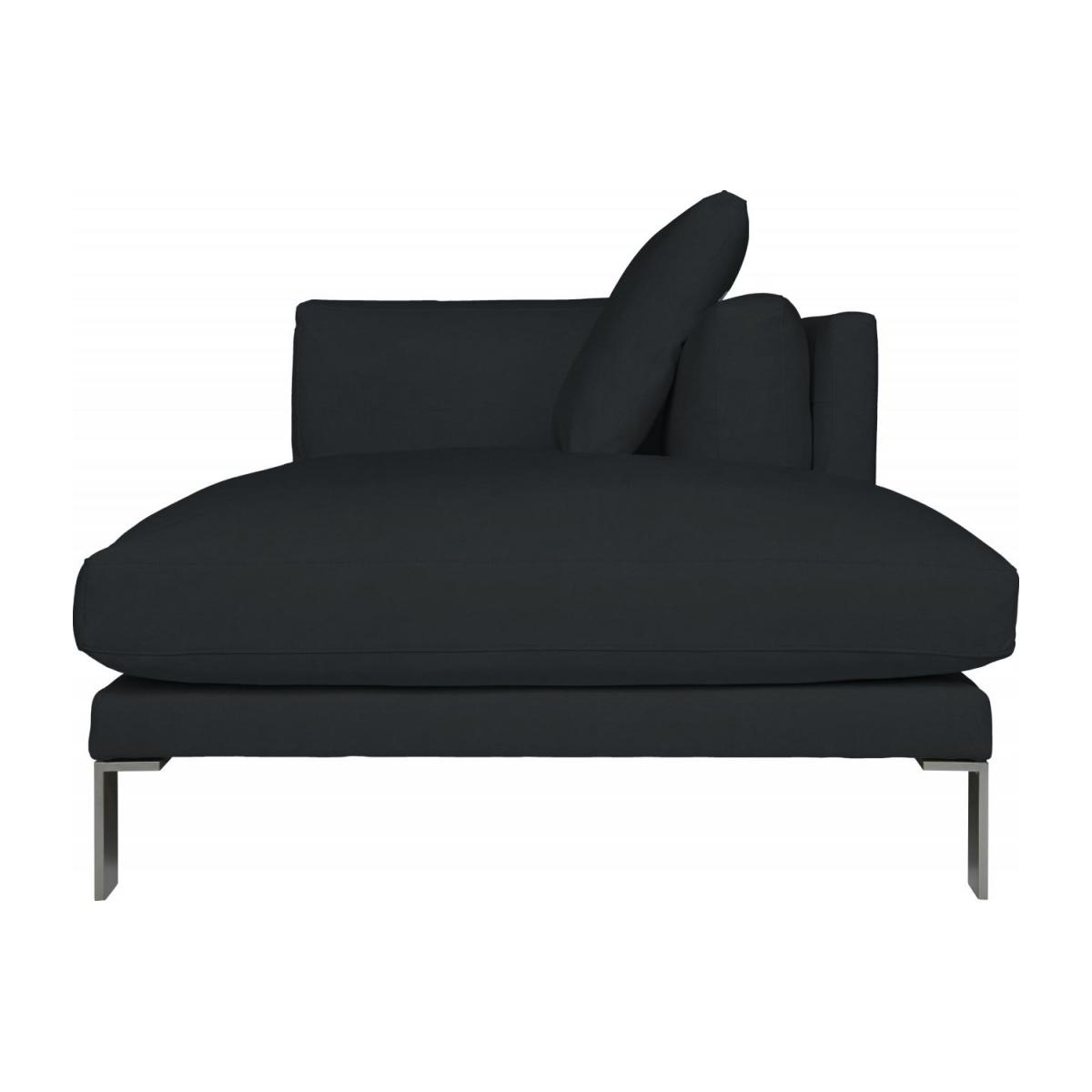 Leather right-arm chaise longue n°3