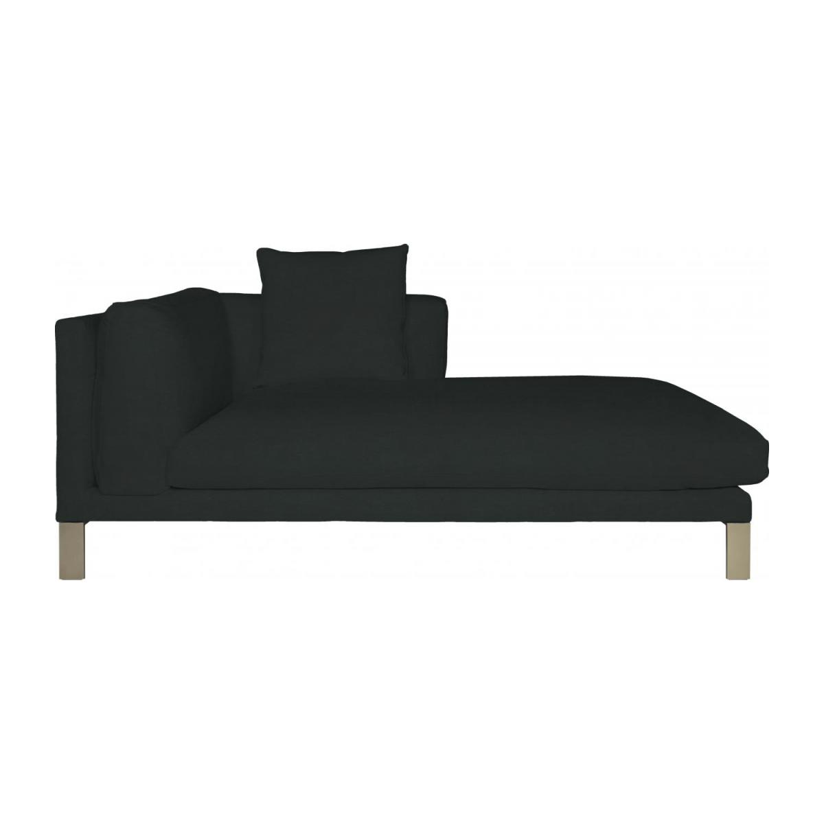 Leather right-arm chaise longue n°4