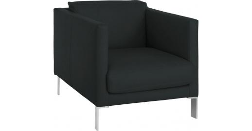 newman fauteuils fauteuil bleu p trole cuir habitat. Black Bedroom Furniture Sets. Home Design Ideas