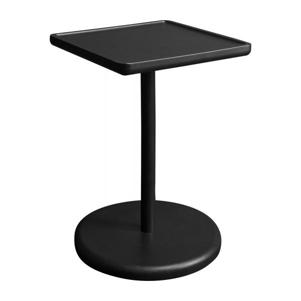imala table d 39 appoint r versible ch ne teint noir habitat. Black Bedroom Furniture Sets. Home Design Ideas