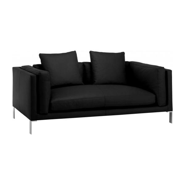 2 Seat Leather Sofa N°1