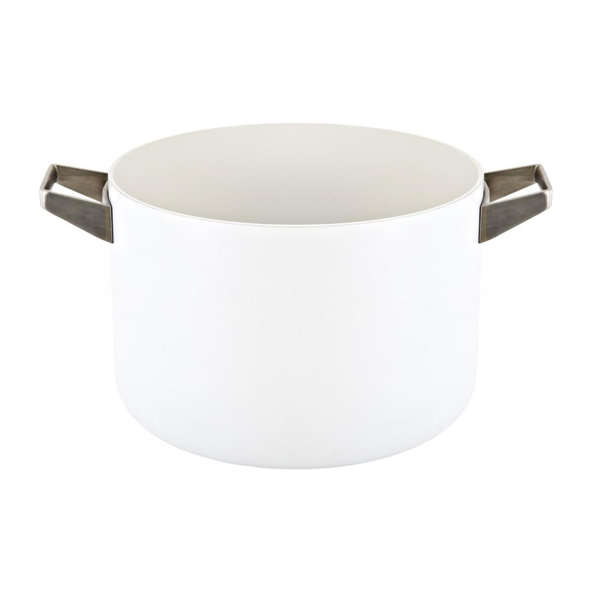 White aluminium pot and lid 26 cm with inner coating in ceramic n°2