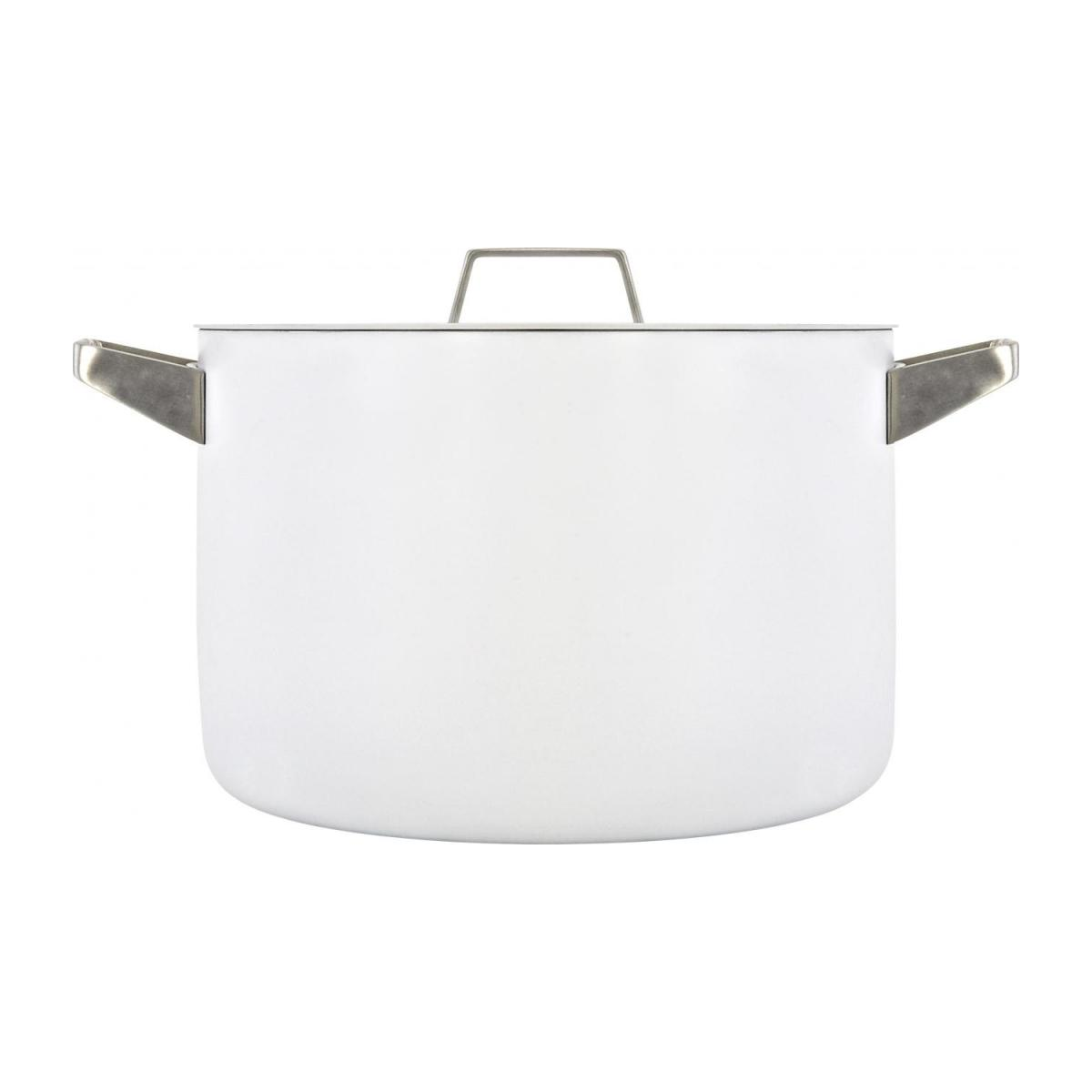 White aluminium pot and lid 26 cm with inner coating in ceramic n°4