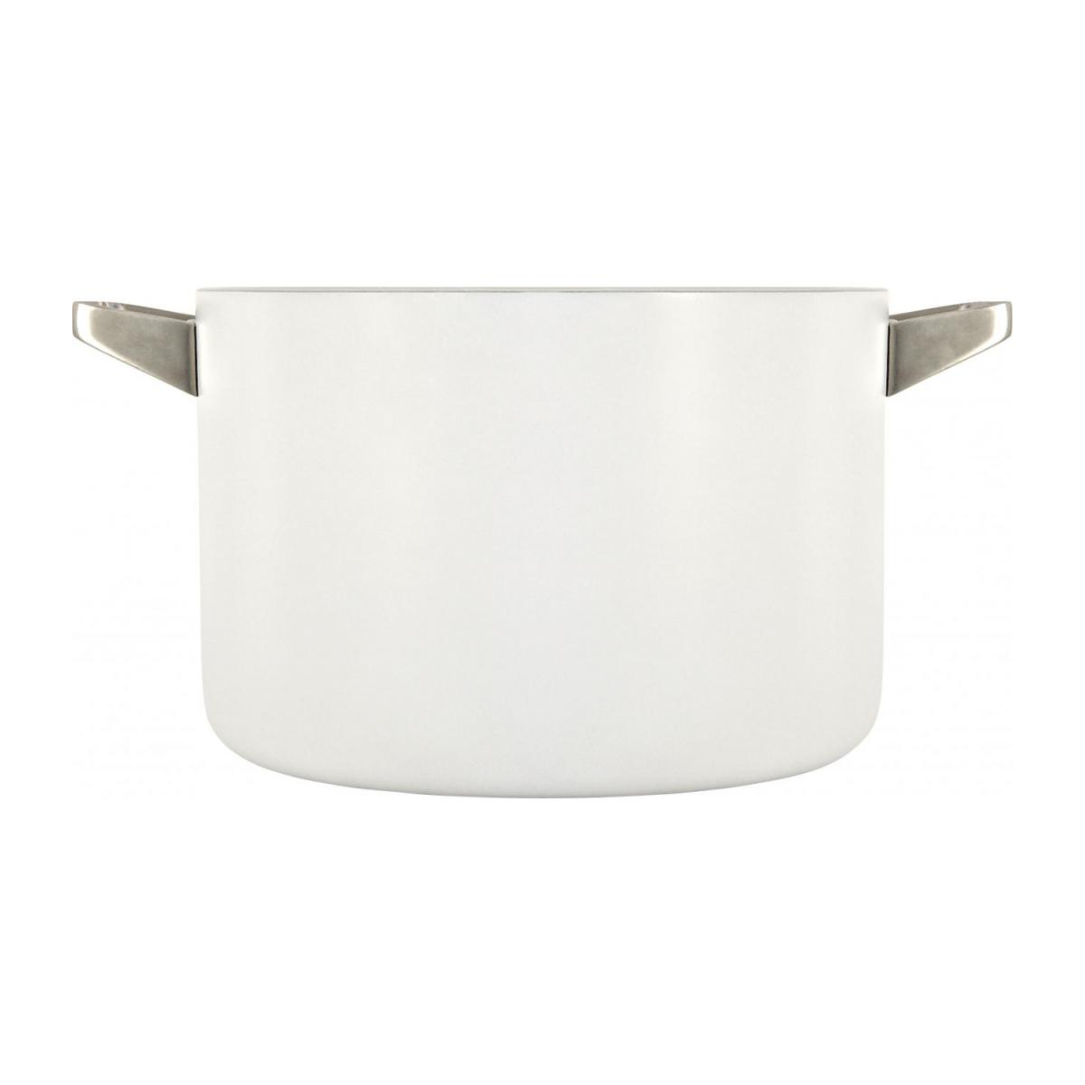 White aluminium pot and lid 26 cm with inner coating in ceramic n°3