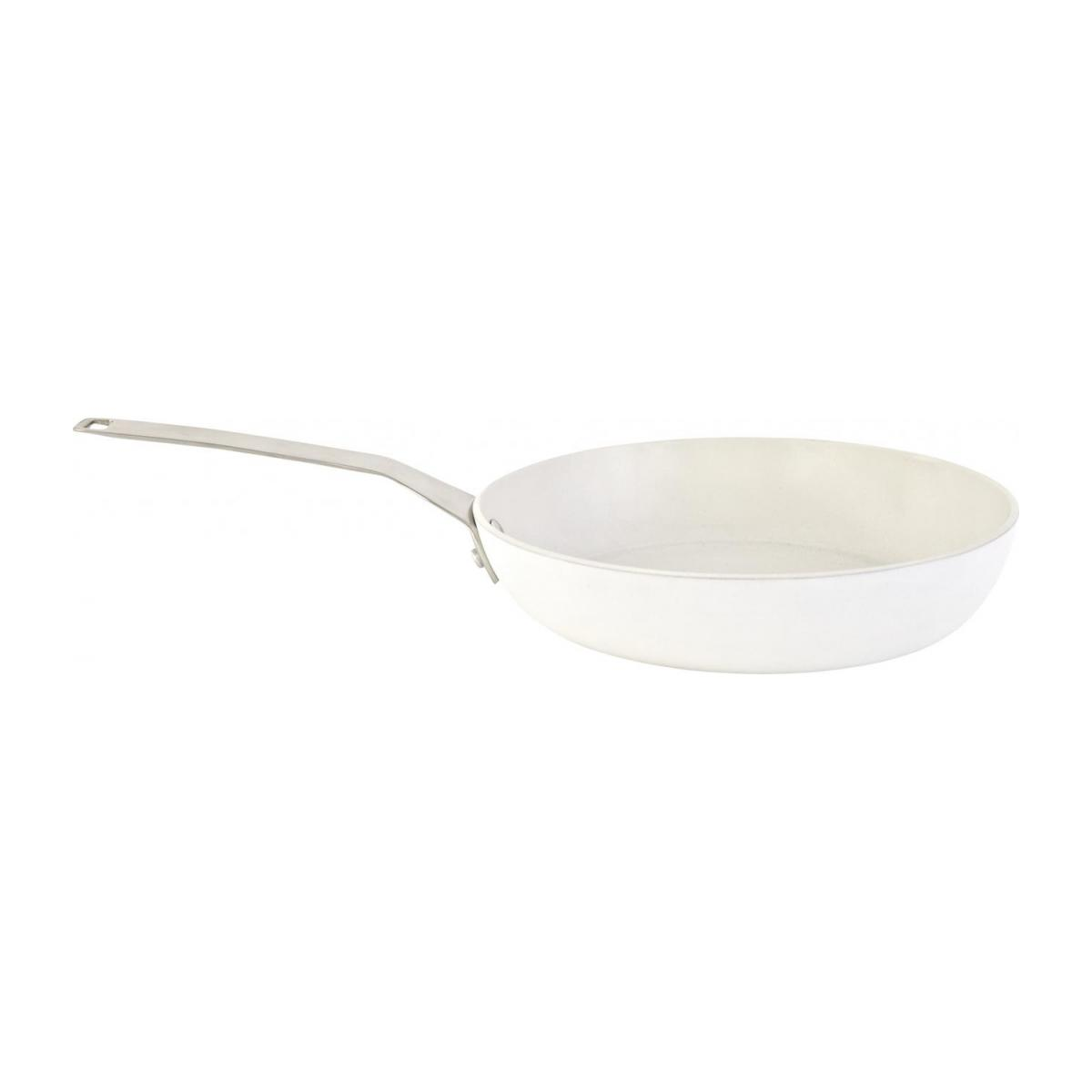 White aluminium pan 28 cm with inner coating in ceramic n°1