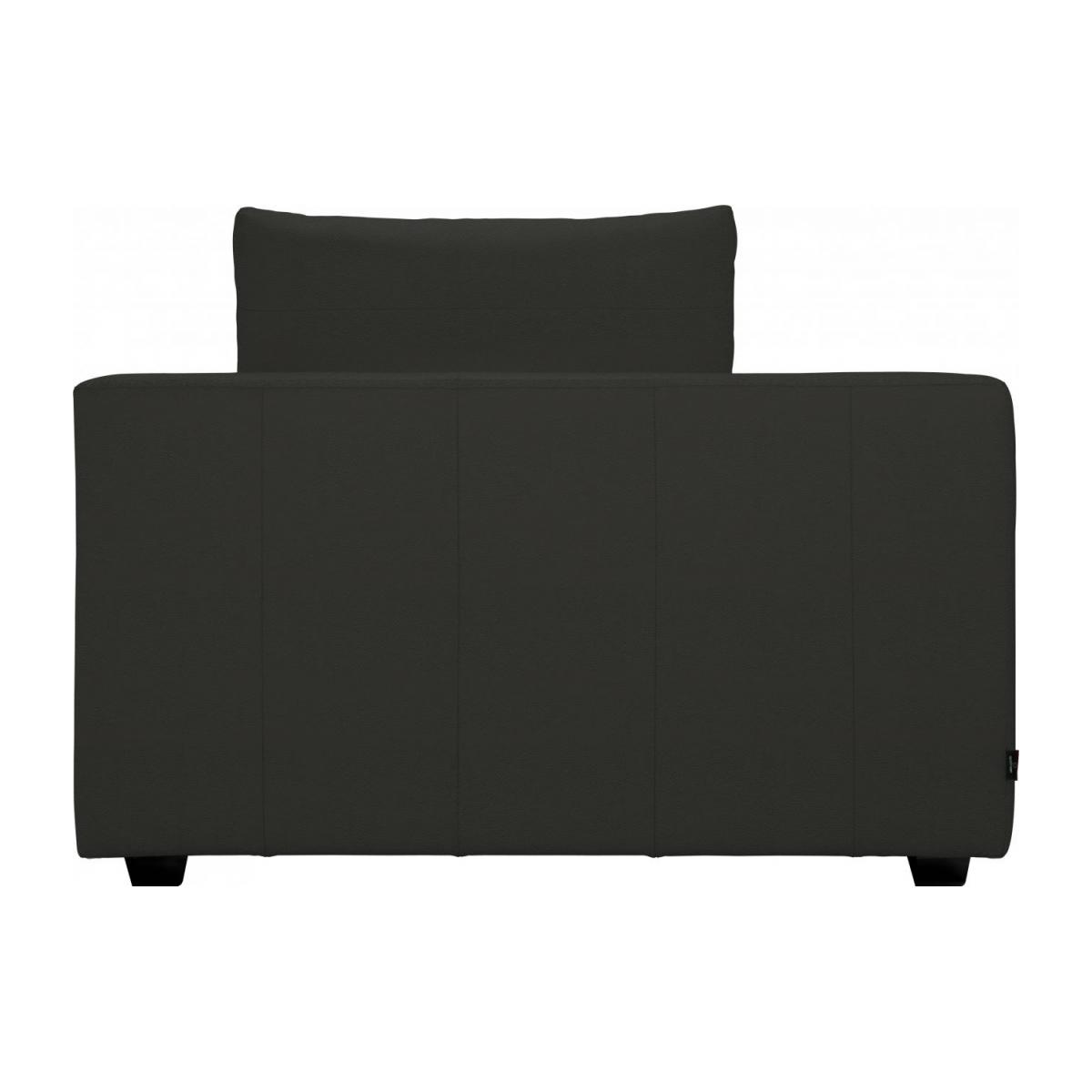 1,5 seater sofa with left armrest in Eton veined leather, brown n°4