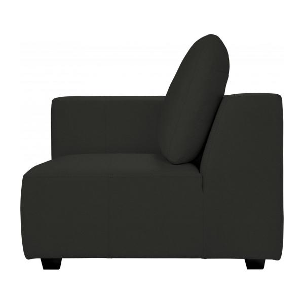 ponta 1 sitzer ecksofa aus leder braun habitat. Black Bedroom Furniture Sets. Home Design Ideas
