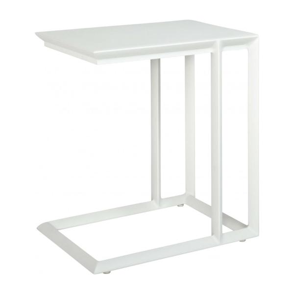 Blanche table d 39 appoint habitat - Table d appoint laque blanc ...